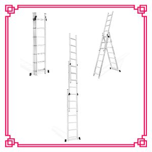 3 Section Aluminum Extension Ladder/Aluminum Combination Ladder pictures & photos