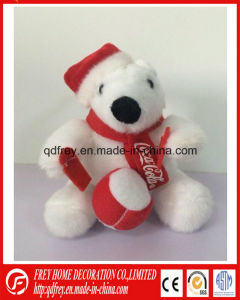 Ce China of Plush Ice Bear for Chrismtas