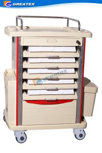 Ce ISO Double Side Movable Hospital Medical ABS Medicine Trolley pictures & photos