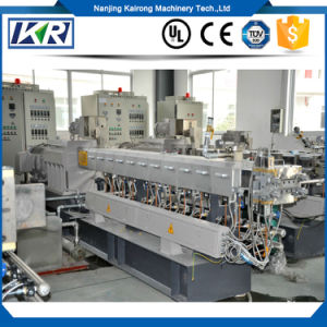 PPS PPO Alloy Glass Fiber Reinforced Granules Making Machine/Parallel Twin Screw Compounding Pellets Granulating Extruder pictures & photos