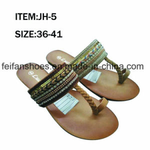 New Style Fashion Women Shoes Flip Flop Flat Sandals (JH9) pictures & photos