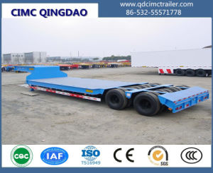 Cimc 3-4 Axle 35-80 Tons Flat Lowbed Semi Trailer pictures & photos