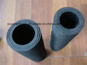 Double Fiber Braid Nonmetallic Rubber Flexible Hydraulic Hose SAE100r3