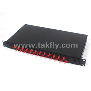 1u 19 Inch 24 Ports Rack Mount Fiber Optic Patch Panel pictures & photos