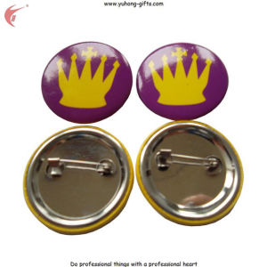China Factory Wholesale Custom Metal Pin Badge Tin Button Badge (YH-TB004) pictures & photos