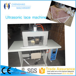 China Made 200mm 8 Inch Ultrasonic Lace Machine for Mask/Surgical Cloth/Non-Woven Bag pictures & photos