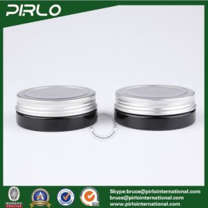 30ml Black Color Plastic Jar with Metal Cap Skin Care Cream Jar 30g Cosmetic Plastic Jar pictures & photos