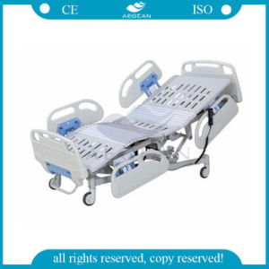 AG-By007 ABS Handrails Factory Cheap Hospital Furniture Adjustable Electric Bed pictures & photos
