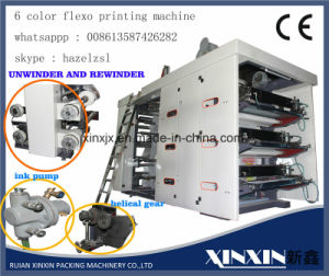 24 Hours on Line Programm 6 Color Flexographic Printing Machine