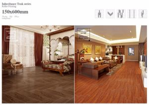 Polished Surface Wood Look Porcelain Floor Tile pictures & photos