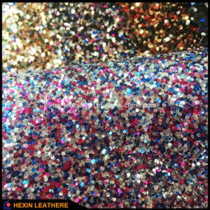 Glitter PU Leather for Wedding Shoes Bags Hx-G1702 pictures & photos