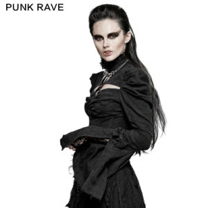 Y-729 Sexy Gothic Arc Hollow out Double Sleeve Shirts for Performance pictures & photos