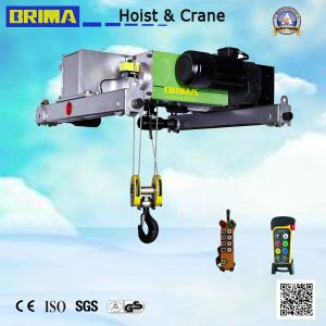 Brima 5t Hot Sales Double Girder European Type Wire Rope Hoist with Good Reputation pictures & photos