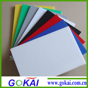 0.45 Density Sign Board 5mm Colored PVC Board pictures & photos