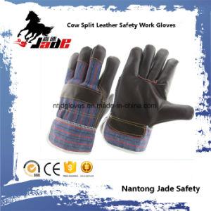 Dark Furniture Leather Industrial Safety Work Glove pictures & photos