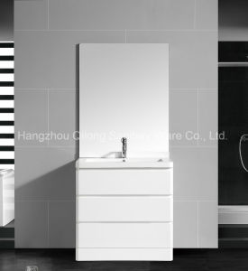 Floor-Standing PVC Cabinet with Resin Basin in Bathroom pictures & photos