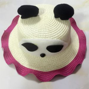 100% Paper Straw Hat, Fashion Bear Style with Band Decoration for Children pictures & photos