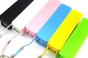 2600mAh Customized Logo Power Bank Portable Backup Battery Charger pictures & photos