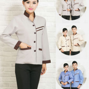 Blend of Cotton and Polyester House Keeping Uniform for Hotel pictures & photos