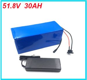 BMS Electric Bike Lithium Ion Battery 51.8V 30ah Charger Battery Lithium 52V 1500W pictures & photos