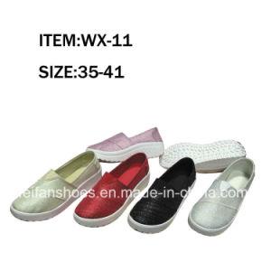 New Design Women Injection Canvas Shoes Comfort Shoes Slip-on Shoes (FFWX-11) pictures & photos