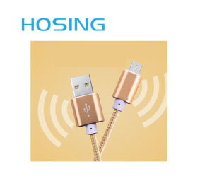 Nylon Braided 2 in 1 Data Trasmission Cable for Smartphone pictures & photos
