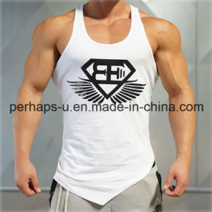 China Wholesale OEM Design Gym Fitness Mens Blank Cotton Vest pictures & photos