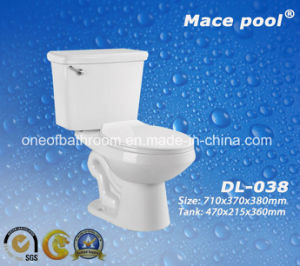 Ceramic Sanitary Ware Siphonic Ceramic Two Piece Toilet (DL-038) pictures & photos