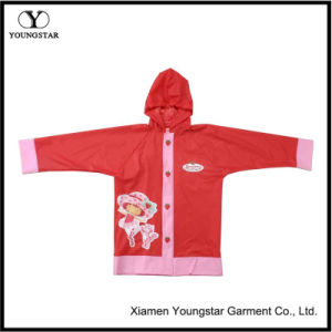 Customize Cartoon Design PVC Children Girls Rain Jacket pictures & photos