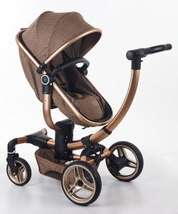 2017 Aluminum New Design Fold Baby Stroller with Car Seat pictures & photos