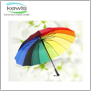 Rainbow Shape Custom Print Rain Umbrella for Anti-UV pictures & photos