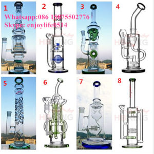 Quality Glass Water Pipe Recycler Perc Smoing Pipe for 420 pictures & photos