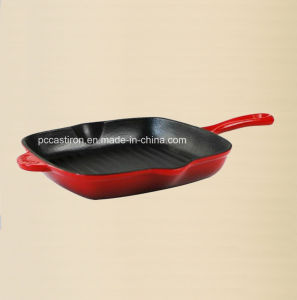 China Cast Iron Frypan with Enamel Finishing in 26cm Dia pictures & photos