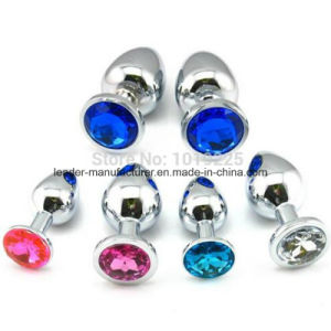 Medium Size Crystal Jewelry Anal Plugs Sex Toys for Women pictures & photos