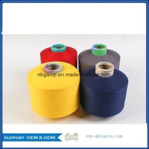 100% Polyester Dope Dyed Yarn DTY with 150d/144f SD SIM pictures & photos