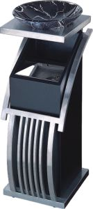 Hotel Lobby Black Color Brushed S/S Frame Ashtray Bins pictures & photos