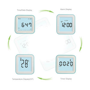 Digital Alarm Clock/ Function Displayed in 4 Angle pictures & photos
