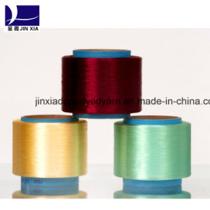 Polyester Yarn FDY 30d/24f Dope Dyed Super Fine Denier Filament pictures & photos