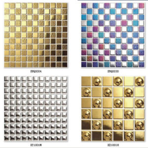 Pebble Gold Ceramic Mosaic Tile pictures & photos