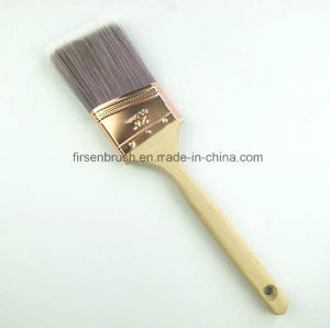 Professional Long Sash Angled Tapered Synthetic Filament Paint Brush with Wooden Handle pictures & photos