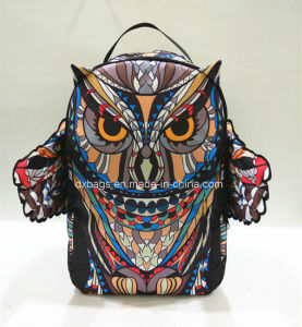 2017 New Style Leisure Fresh Owl Nylon School Backpack, Novel with Wing Backpack pictures & photos
