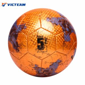 Golden Machine-Stitching Deflated No. 5 Soccer Ball pictures & photos