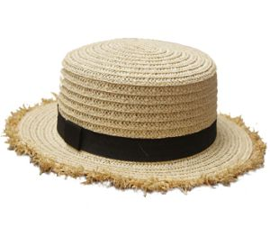 Wholesale Skimmer Boater Straw Hat pictures & photos
