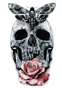Skull Rose Temporary Waterproof Tattoo Sticker Art Tattoo Sticker pictures & photos