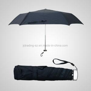 3 Fold Manual Open Mini Umbrella Super Flat Rain/Sun Umbrella (JF-MMO303) pictures & photos