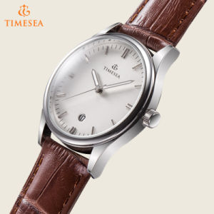 OEM/ODM Watch Manufacturer Custom Stainless Steel Leather Watch for Men72599 pictures & photos