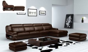 European Classical Leather Sofas (L065) pictures & photos