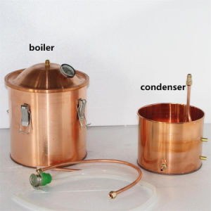 10L/3gal Home Alcohol Distiller Moonshine Stills Copper Pot Still Distillation pictures & photos
