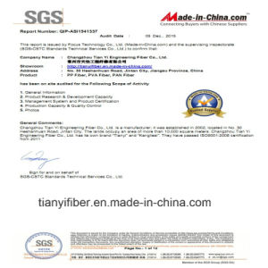 PP Polypropylene Macro Fiber Fibre with ISO, SGS Certification Uesd for Building Material pictures & photos