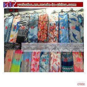 Watercolour Poppy Women Shawl Wrap Silk Chiffon Scarf (C1002) pictures & photos